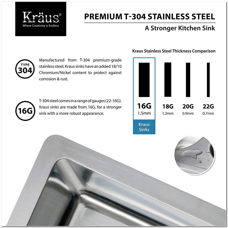 302 Vs 304 Stainless Steel Sinks