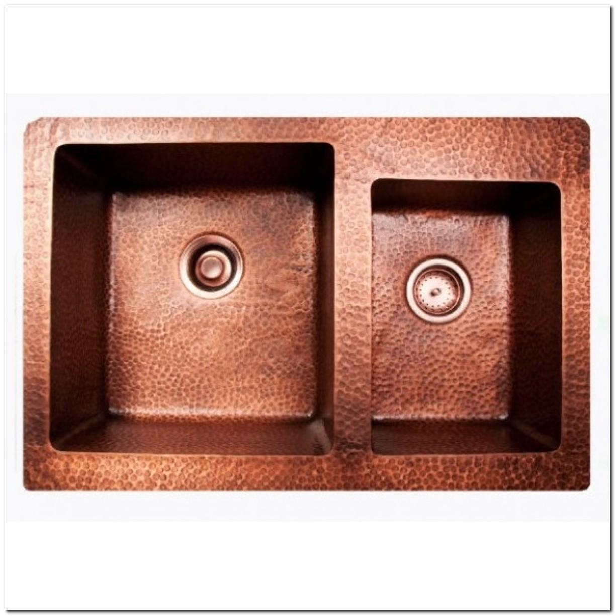 33x22 Copper Drop In Sink