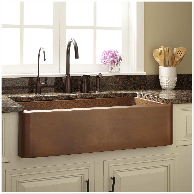 36 Apron Front Copper Sink