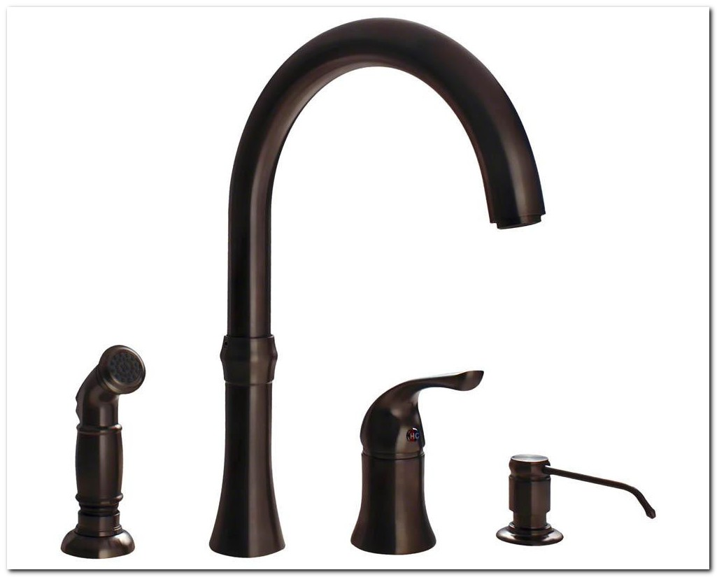 4 Hole Kitchen Faucet Bronze