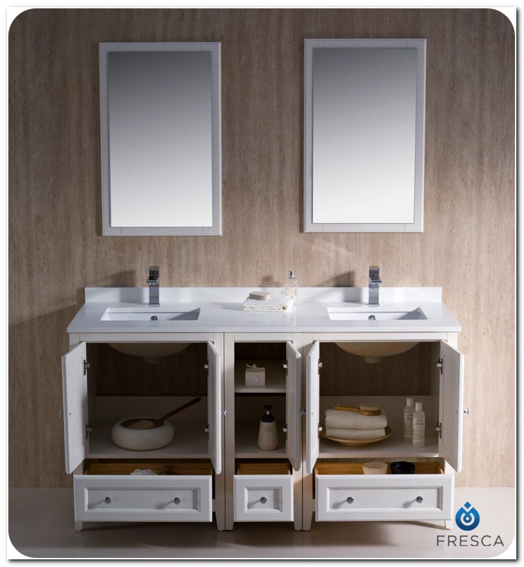 60 Bath Vanity Double Sink