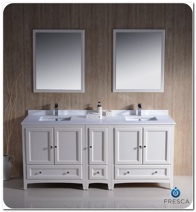 72 Bath Vanity Double Sink