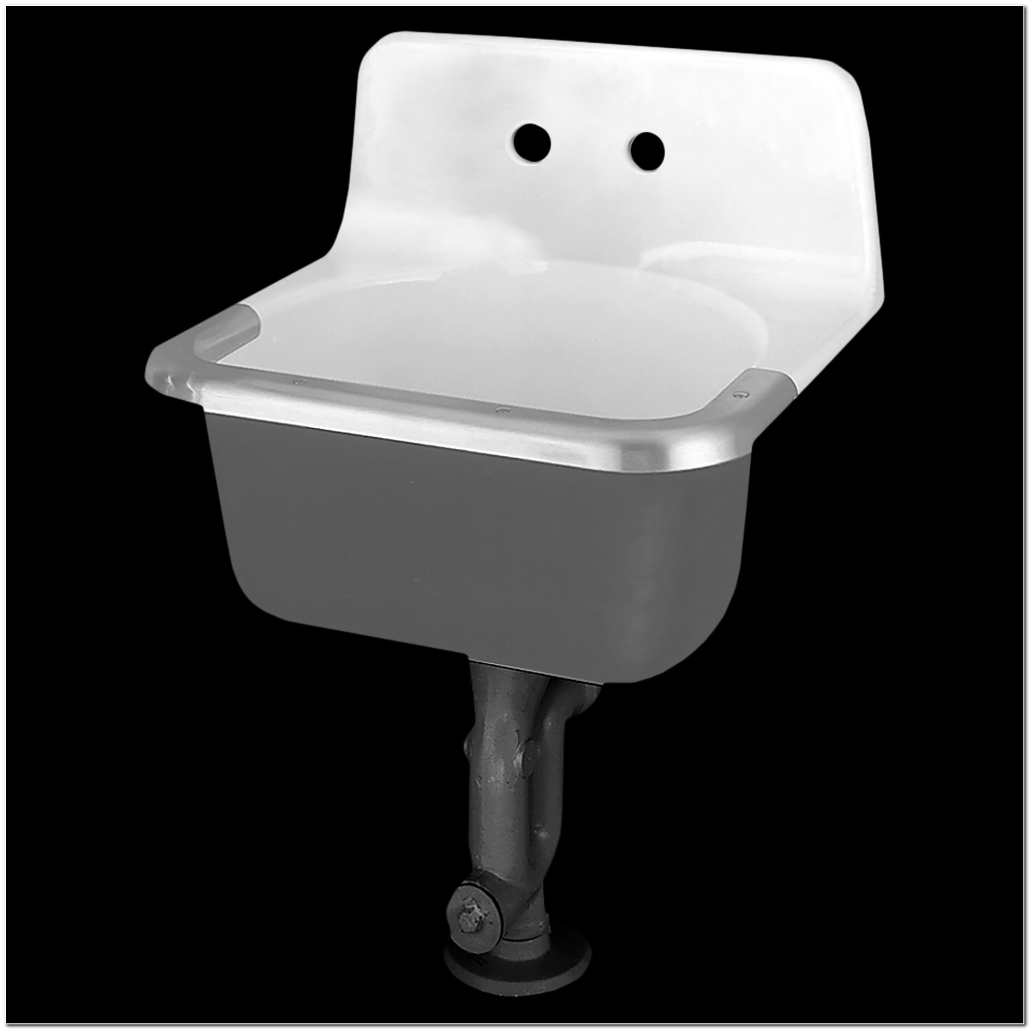 Akron Cast Iron Wall Mounted Service Sink