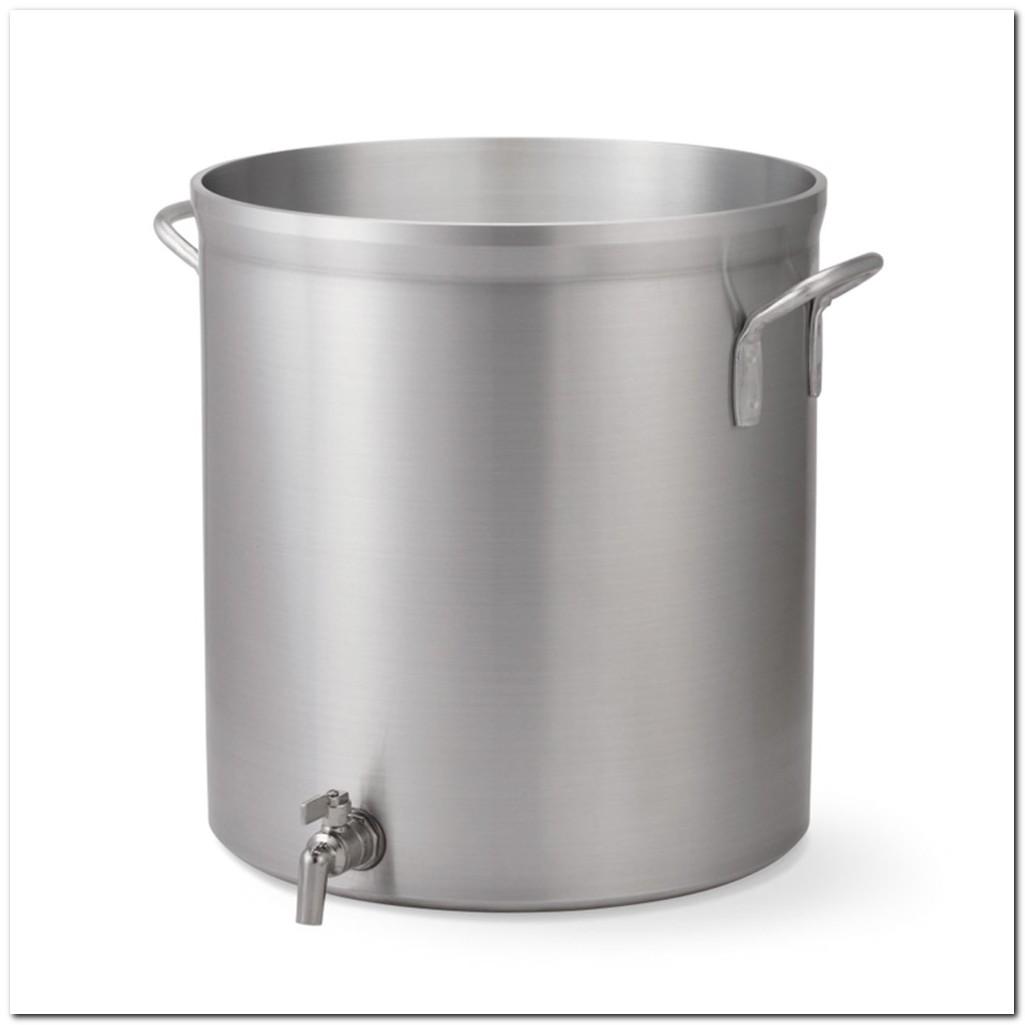Aluminum Stock Pot With Faucet