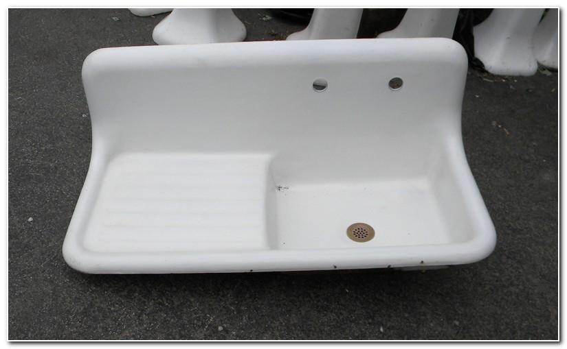 Antique Cast Iron Kitchen Sink