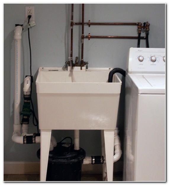 Basement Sink Drain Pump To Reservoir