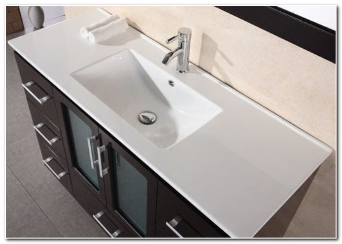 Bathroom Countertop With Integrated Sink
