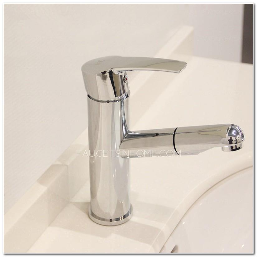 Bathroom Faucet Pull Out Spout