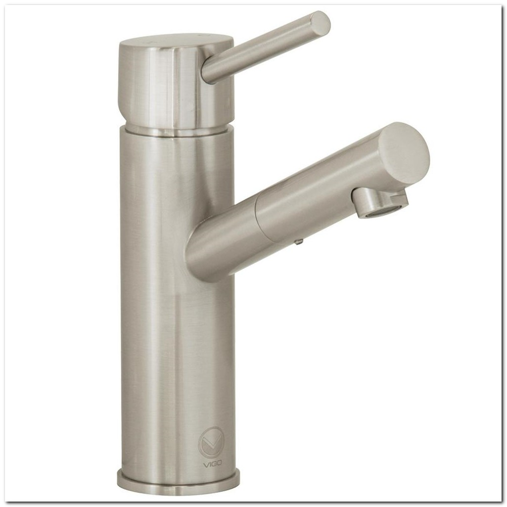 Bathroom Faucet Single Hole Brushed Nickel