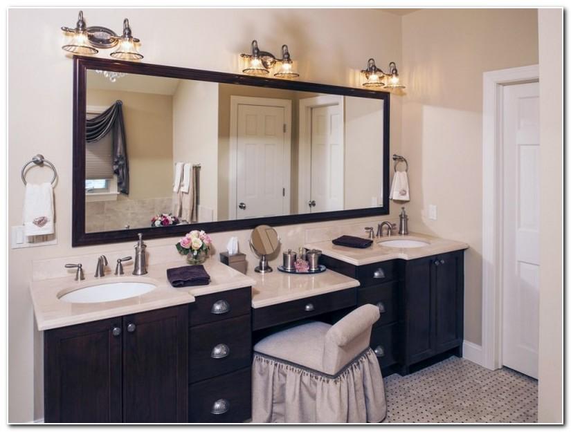 Bathroom Sink Vanity With Makeup Area