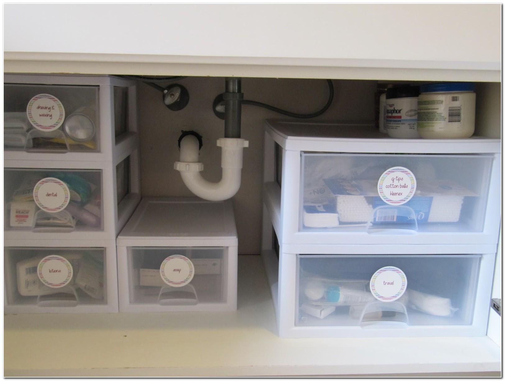 Bathroom Under Sink Cabinet Organizer