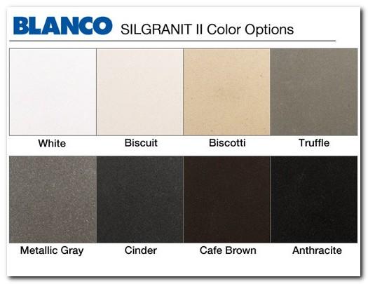 Blanco Silgranit Sink Color Samples