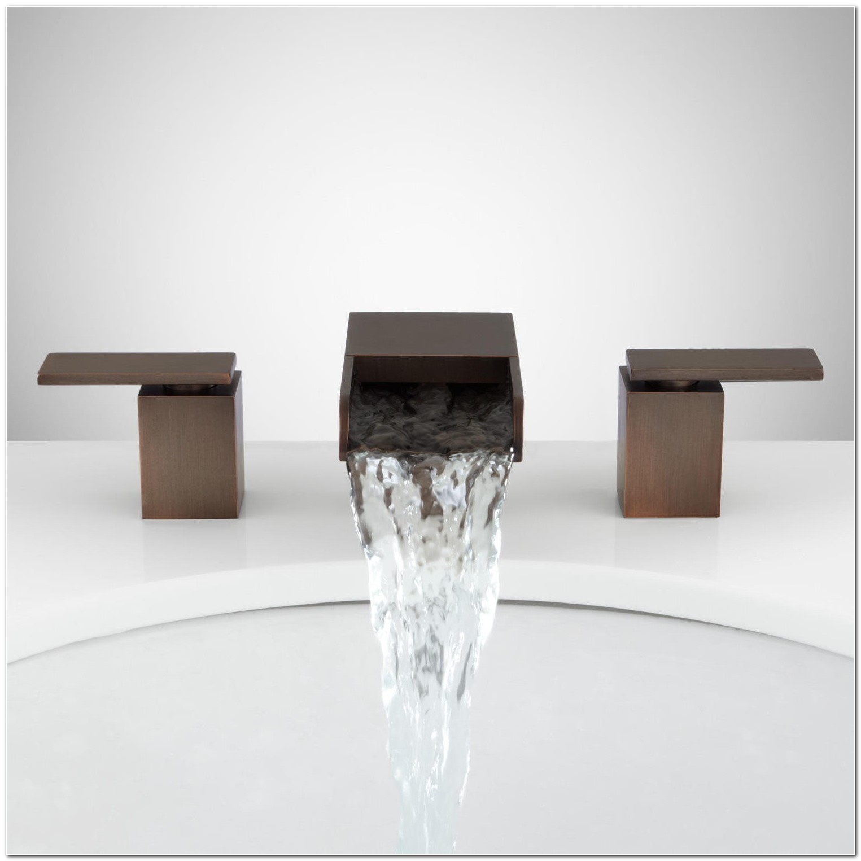 Bronze Waterfall Bathroom Sink Faucet