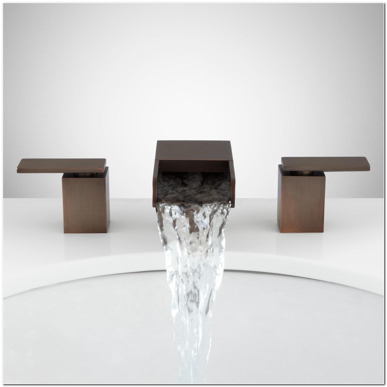 Bronze Waterfall Bathroom Sink Faucets