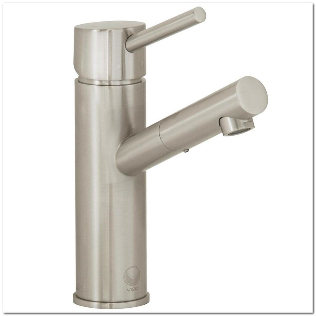 Brushed Nickel Bathroom Faucet Single Hole