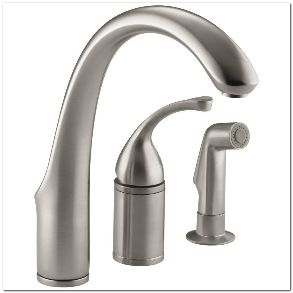 Brushed Nickel Single Handle Kitchen Faucet