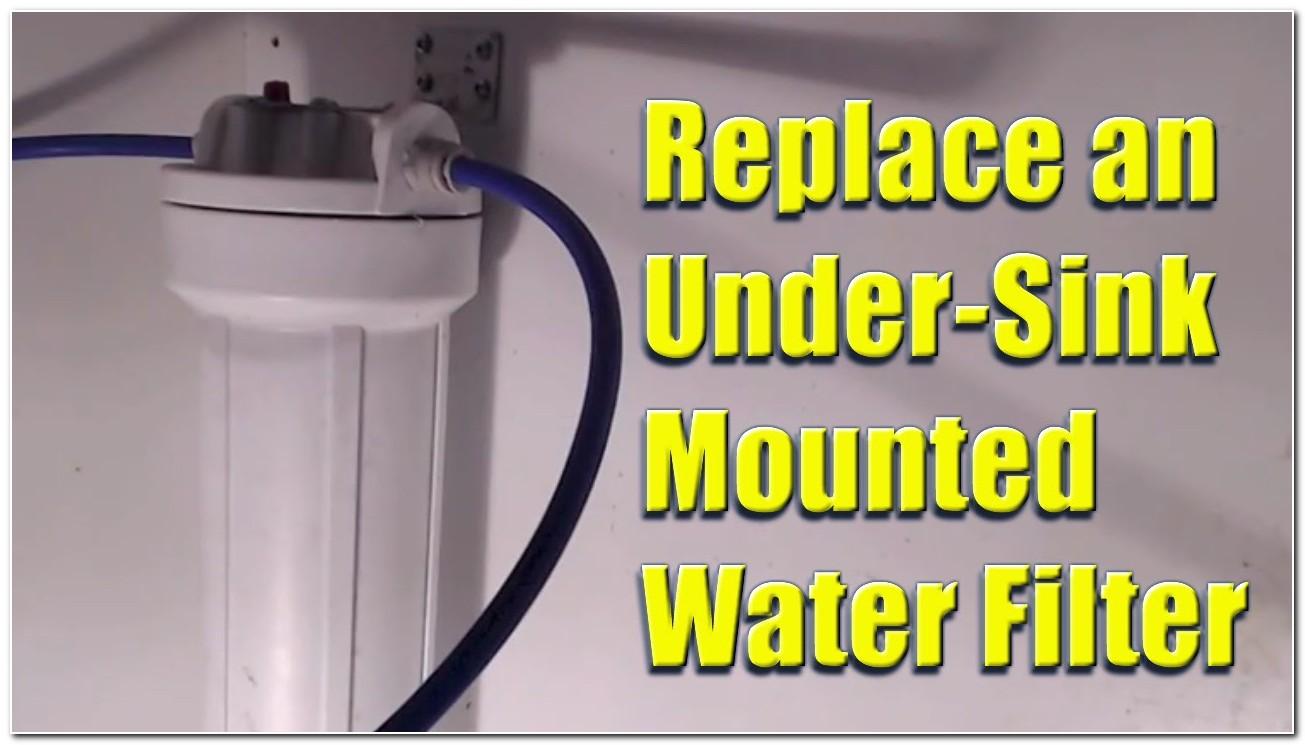 Changing Water Filter Under Sink