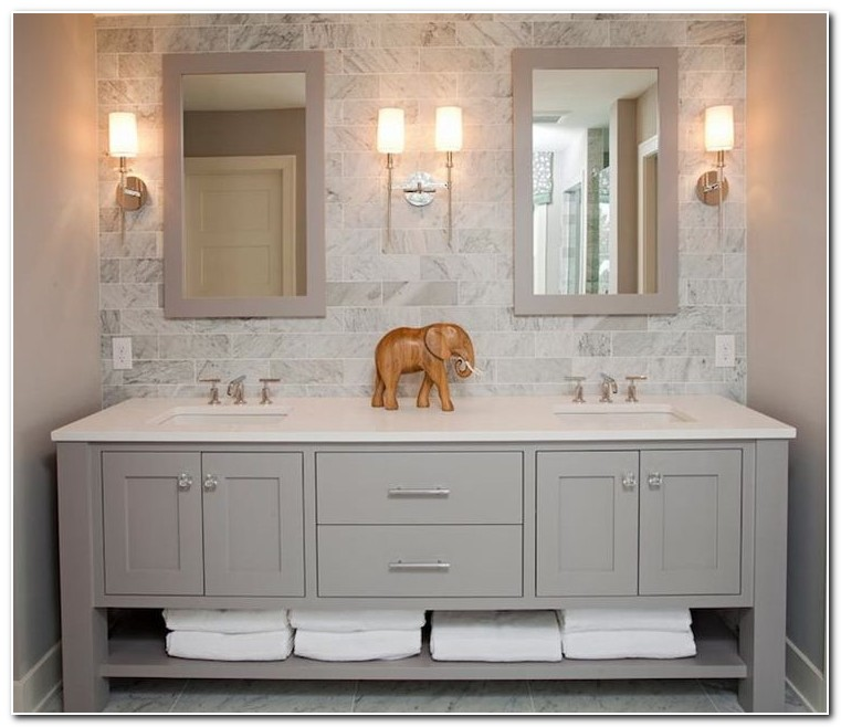 Cheap Double Sink Bathroom Cabinets