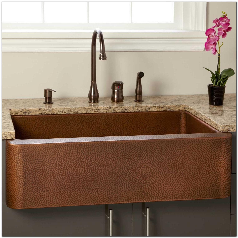 Cheap Hammered Copper Farm Sink