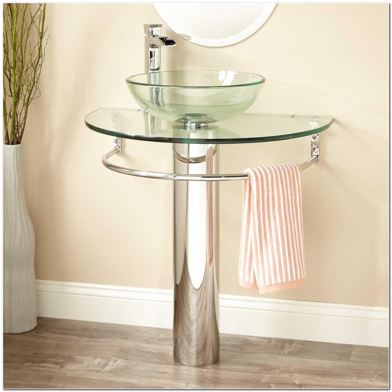 Circular Towel Bar For Pedestal Sink