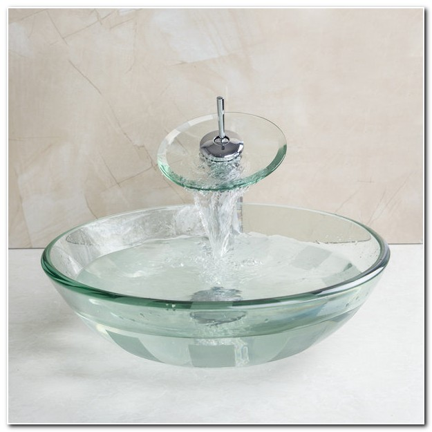 Clear Tempered Glass Vessel Sink