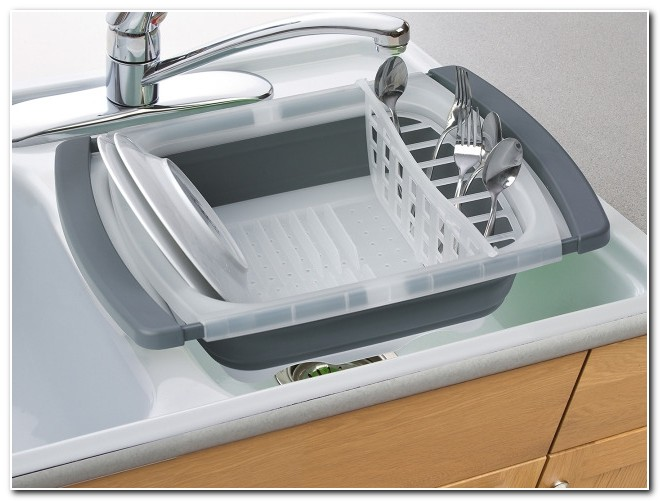 Collapsible Dish Drainer Over The Sink
