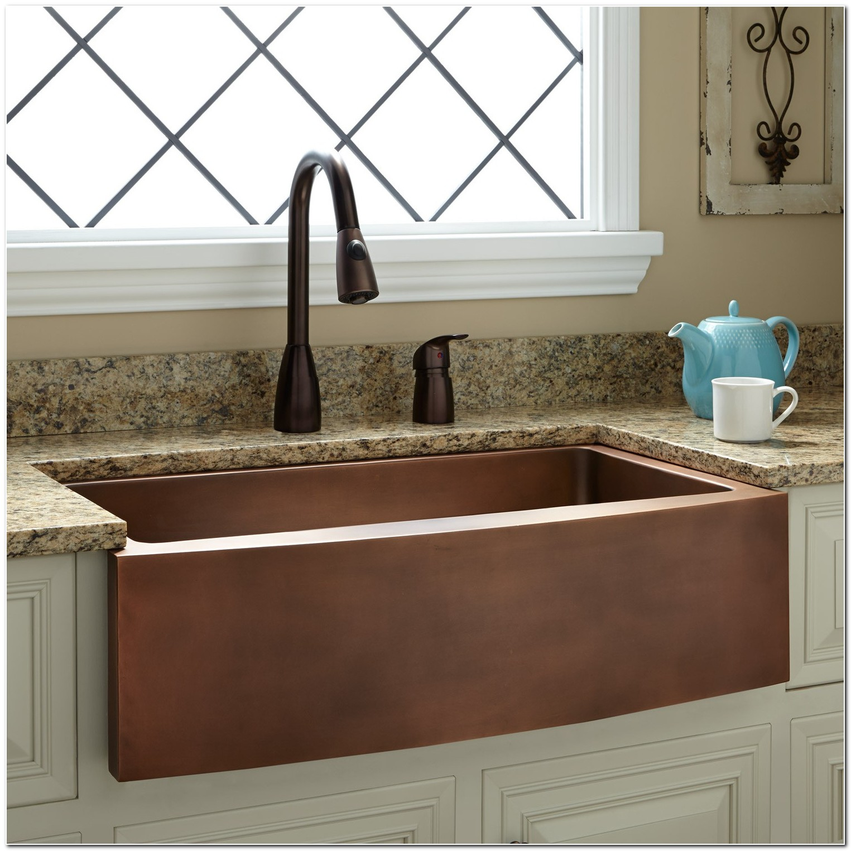 Copper Apron Front Farmhouse Sink