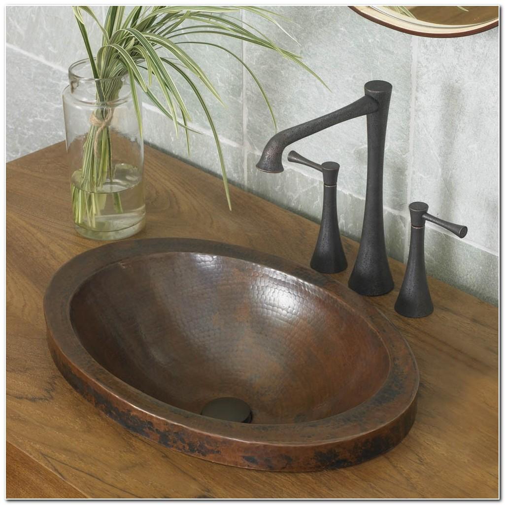 Copper Bathroom Drop In Sinks