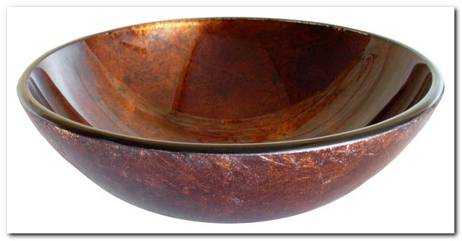Copper Colored Glass Vessel Sinks