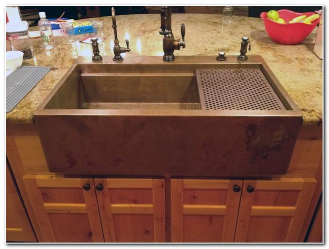 Copper Drop In Farmhouse Sink