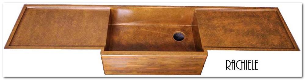 Copper Farm Sink With Drainboard