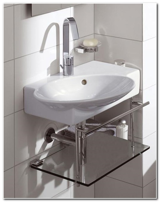 Corner Bathroom Sinks Small Spaces