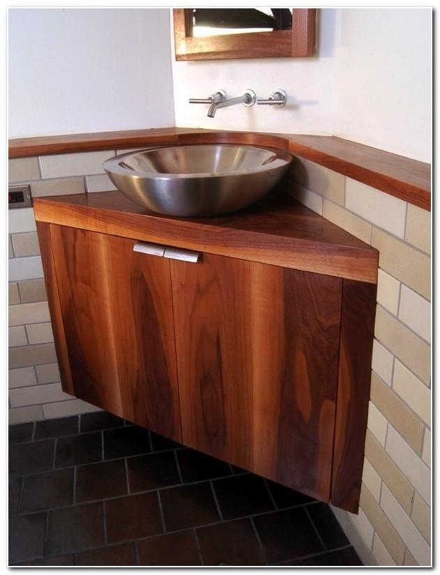 Corner Bathroom Vessel Sink Cabinet