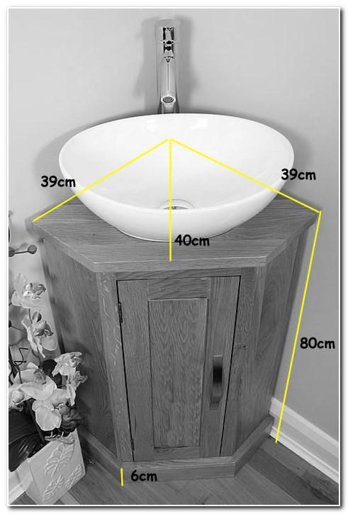 Corner Vanity Unit Basin Sink