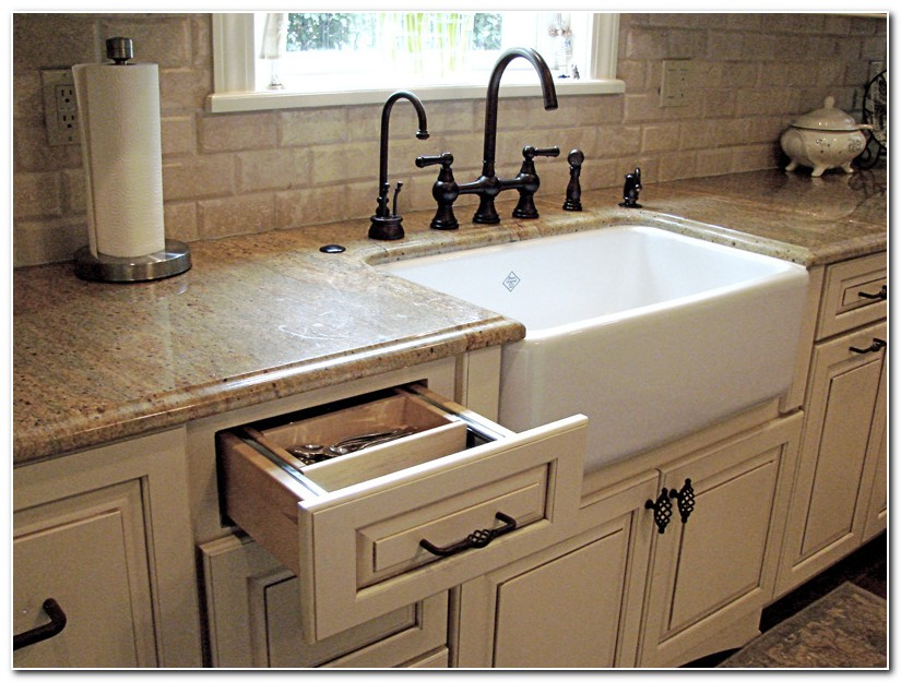 Country Kitchen With Farmhouse Sink