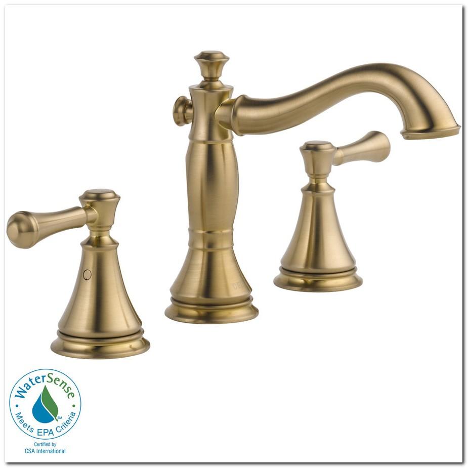 Delta Cassidy Bathroom Faucet Champagne Bronze