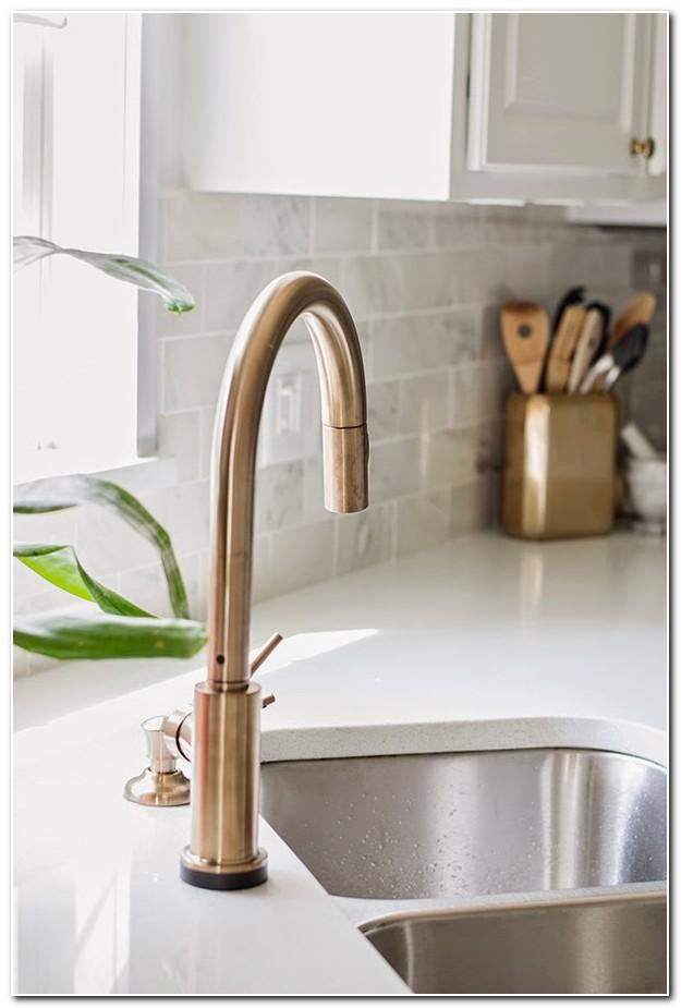 Delta Kitchen Faucet Champagne Bronze