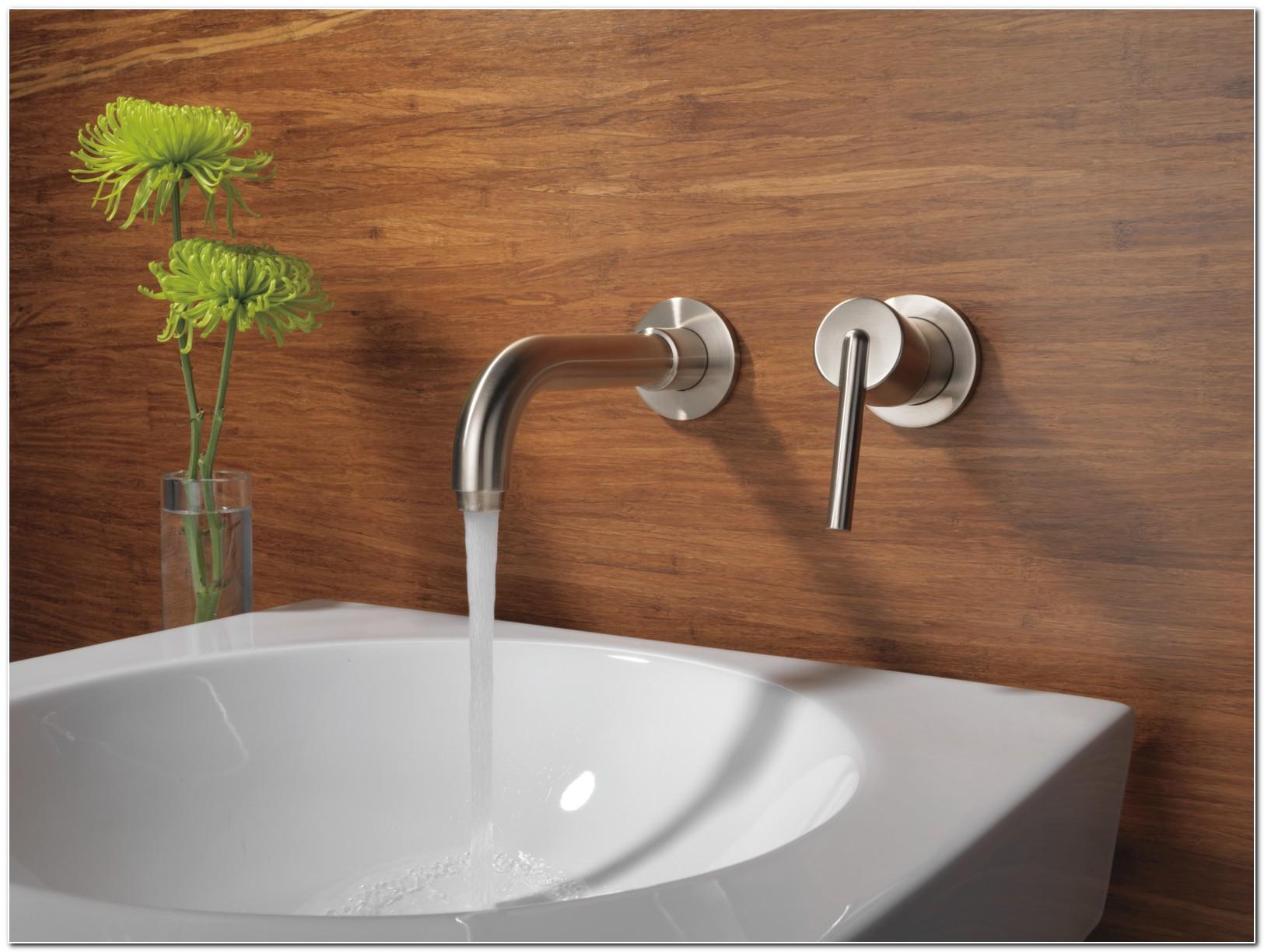 Delta Wall Mount Bathroom Sink Faucet