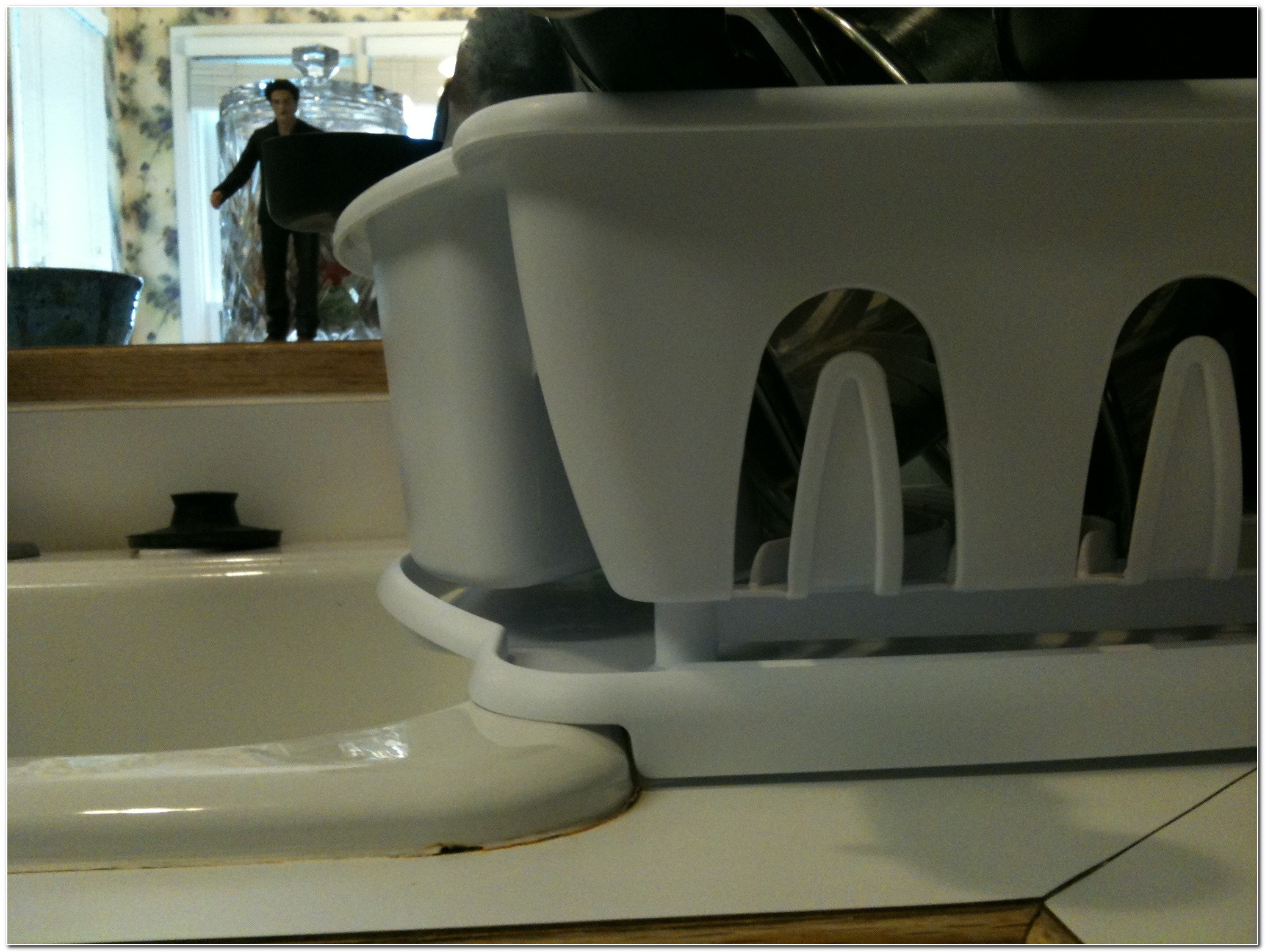 Dish Drainer For Sink With Lip