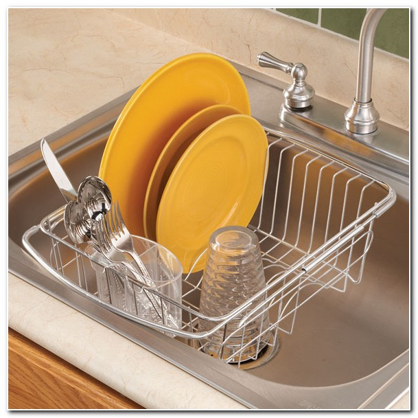 Dish Drainer Racks In The Sink