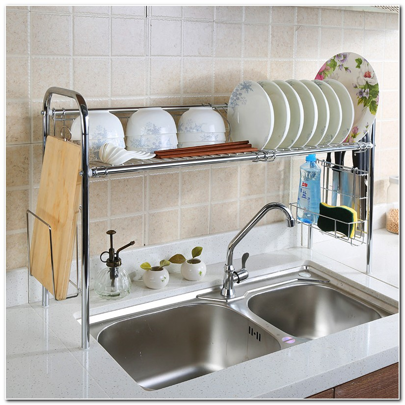 Dish Rack Above The Sink