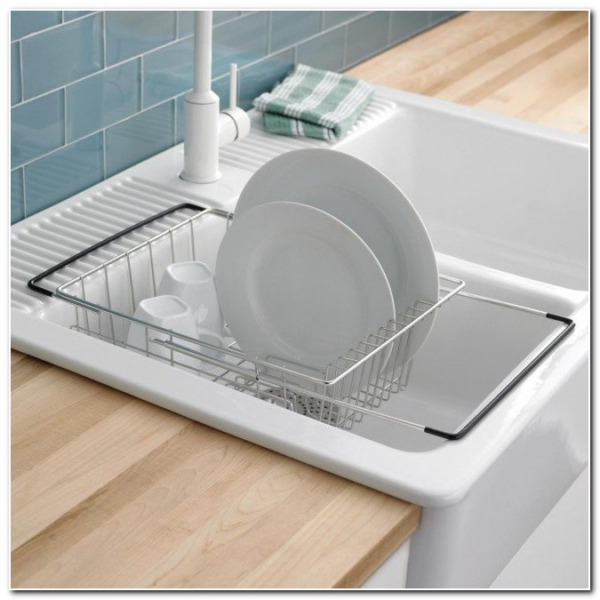Dish Rack In The Sink