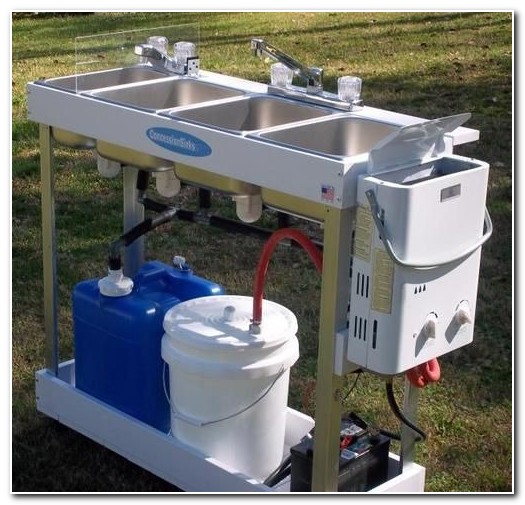 Diy Portable Sink With Hot Water