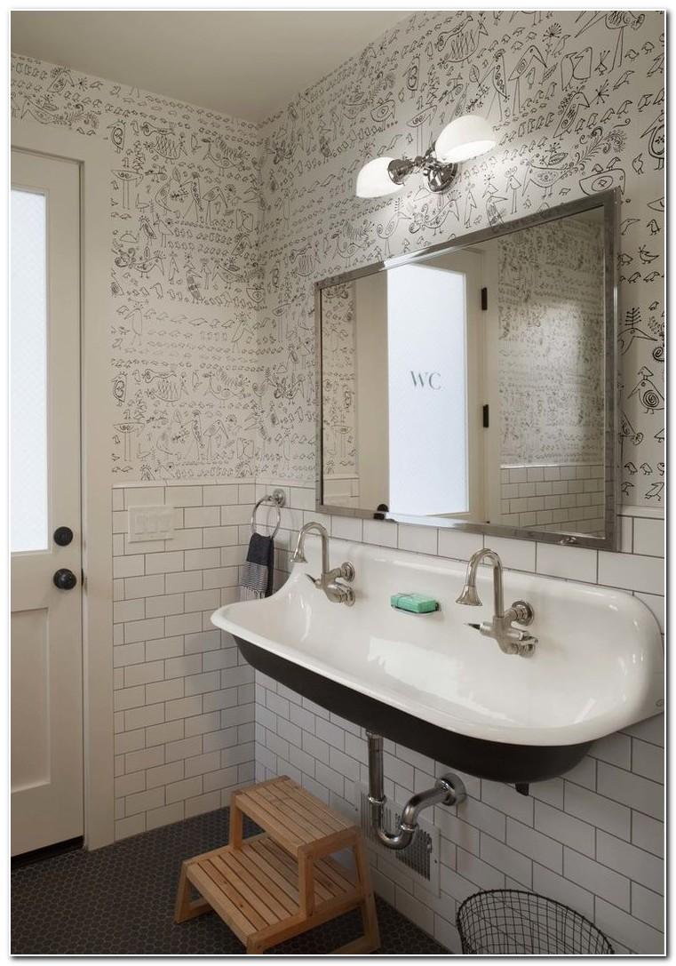 Double Farm Sink For Bathroom