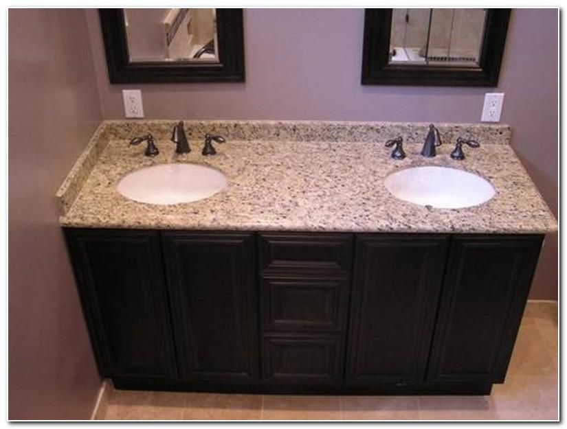 Double Sink Granite Bathroom Countertops
