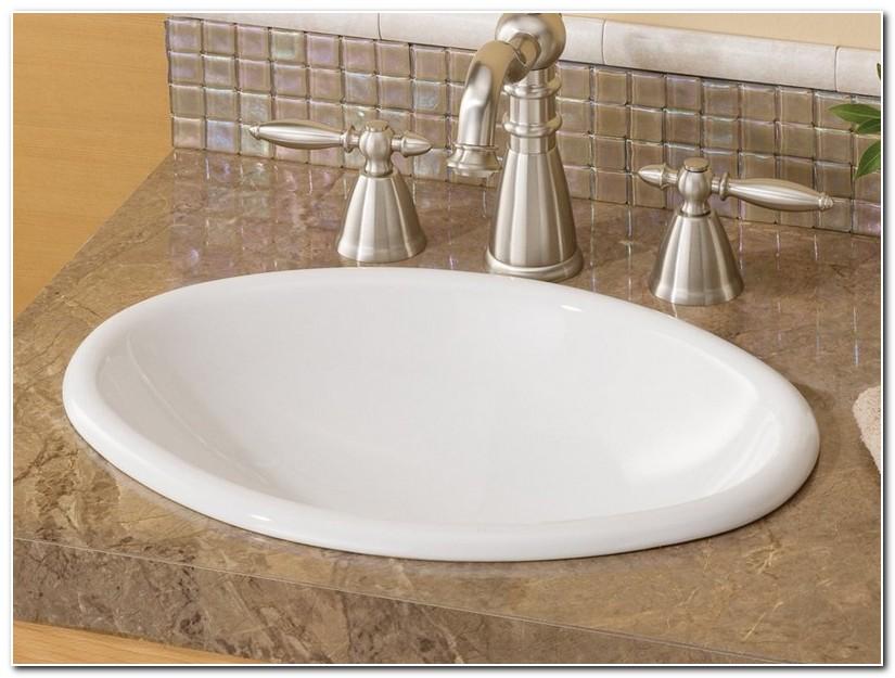 Drop In Bathroom Sink With Granite Countertop