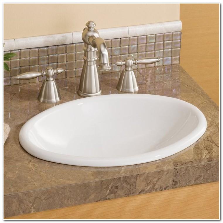 Drop In Sinks Bathroom Oval