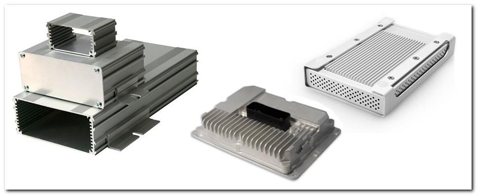 Extruded Aluminium Enclosures Integral Heatsink