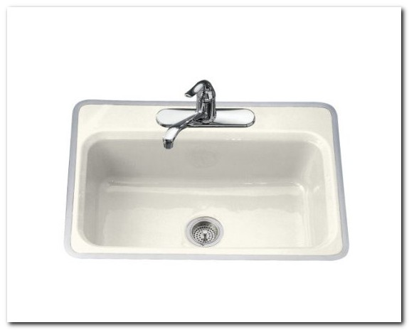 Flush Mount Cast Iron Kitchen Sink