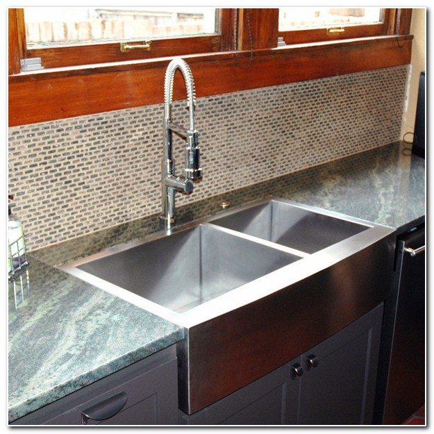 Flush Mount Fireclay Farmhouse Sink